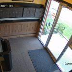 Indoor apartment mailbox and front door camera