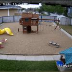 Daytime playground screenshot with turret camera