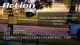 Action Security Cameras Business Card